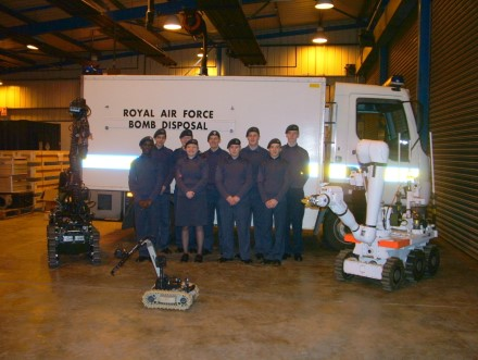 RAF Wittering Bomb Disposal Unit Visit